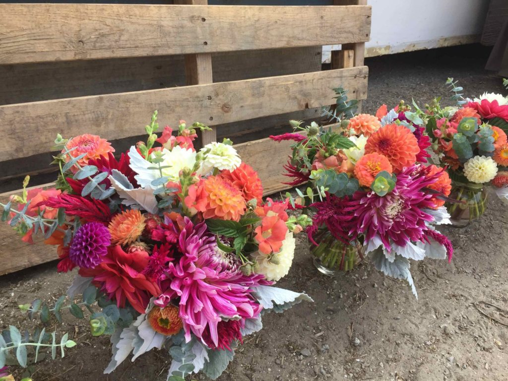 Bridesmaid bouquets photo by Kelly Brown